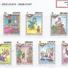 Selos: SELLOS WALT DISNEY SERIE CORTA. GRENADA 1983. NAVIDAD. Lote 215643236