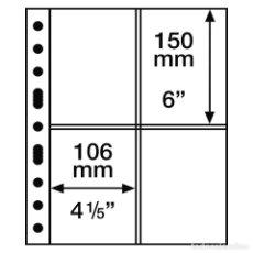 Francobolli: LEUCHTTURM 337553 HOJAS DE PLÁSTICO GRANDE, 4 DIVISIONES PARA TARJETAS POSTALES,. Lote 204029762