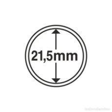 Selos: LEUCHTTURM 336560 CÁPSULAS DE MONEDAS DIÁMETRO INTERIOR 21,5 MM. Lote 204029917