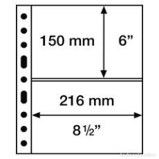 Francobolli: LEUCHTTURM 336439 HOJAS DE PLÁSTICO GRANDE, CON2 BANDAS HORIZONTALES, TRANSPAREN. Lote 204029932