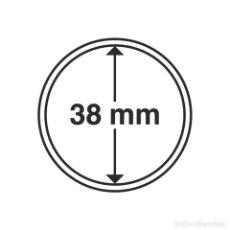 Timbres: LEUCHTTURM 327110 CÁPSULAS DE MONEDAS DIÁMETRO INTERIOR 38 MM 10 UNID. Lote 204031052