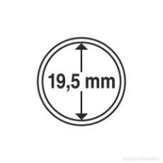 Selos: LEUCHTTURM 325403 CÁPSULAS DE MONEDAS DIÁMETRO INTERIOR 19,5 MM. Lote 204031581