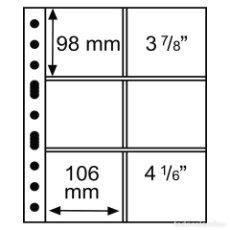 Francobolli: LEUCHTTURM 316604 HOJAS DE PLÁSTICO GRANDE, CON6 ESTUCHES, 106X98 MM, TRANSPAREN. Lote 204031690