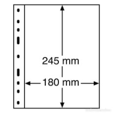 Timbres: LEUCHTTURM 319037 HOJAS DE PLÁSTICO OPTIMA, 1 DIVISIÓN, TRANSPARENTES. Lote 204032210