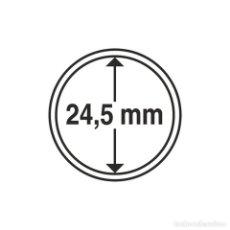 Selos: LEUCHTTURM 310706 CÁPSULAS DE MONEDAS DIÁMETRO INTERIOR 24,5 MM. Lote 204033295