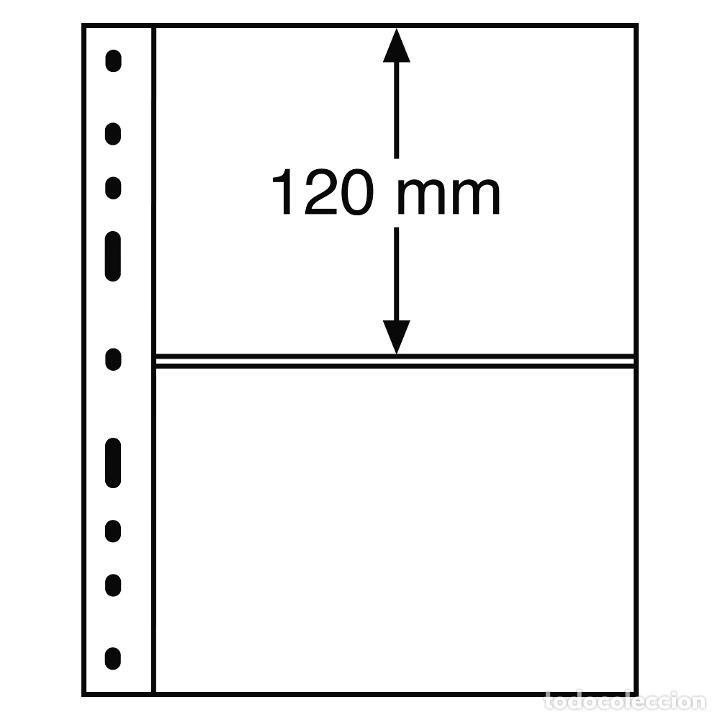 LEUCHTTURM 309942 HOJAS DE PLÁSTICO OPTIMA, 2 DIVISIONES, TRANSPARENTES (Sellos - Material Filatélico - Otros)