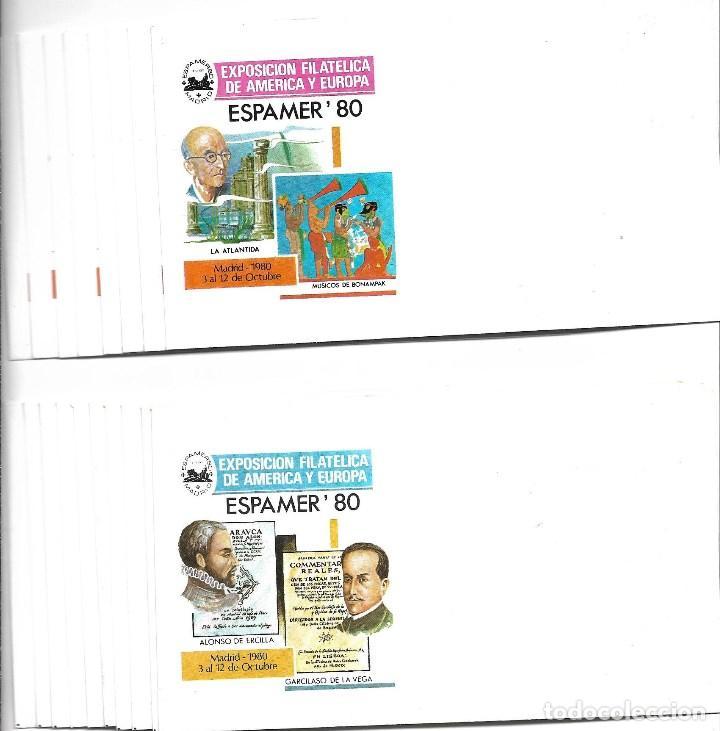 Sellos: ESPAÑA LOTE 47 SOBRE DE 1º DIA SE ESPAMER 80 NUEVOS SIN FRANQUEAR - Foto 2 - 205241232