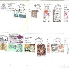 Sellos: ESPAÑA LOTE 13 SOBRES DE 1º DE 1986. Lote 205243282