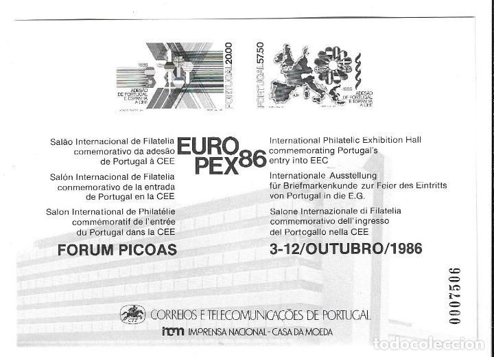 Sellos: ESPAÑA LOTE 9 DE SOBRES DE 1º DE INGRESO DE PORTUGAL y ESPAÑA EN LA C.E.- CON HOJA BLOQUE TODOS - Foto 2 - 205246353
