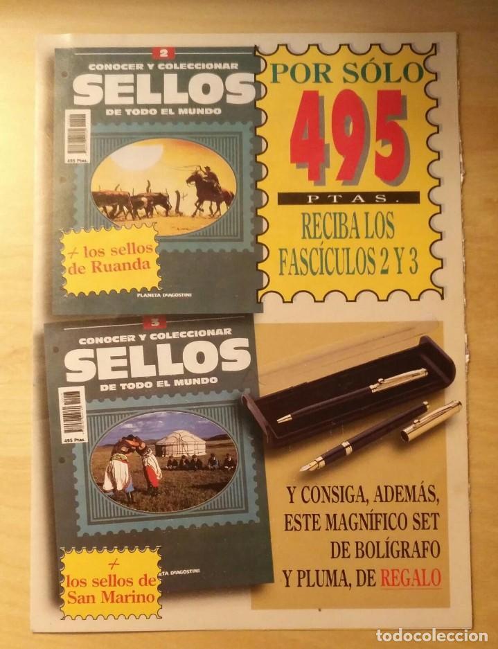 PUBLICIDAD CONOCER Y COLECCIONAR SELLOS DE TODO EL MUNDO - PLANETA AGOSTINI (Sellos - Material Filatélico - Otros)