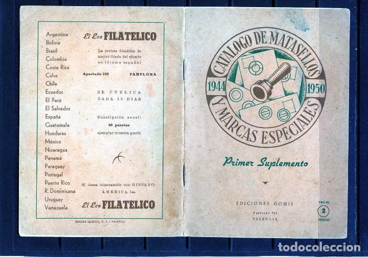 CATALOGO DE MATASELLOS Y MARCAS ESPECIALES (1944-1950)-VER FOTOS ADICIONALES-SUPLEMEMTO 1951. (Sellos - Material Filatélico - Otros)