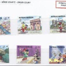 Sellos: SELLOS WALT DISNEY SERIE CORTA. ANTIGUA Y BARBUDA 1989. Lote 207085427