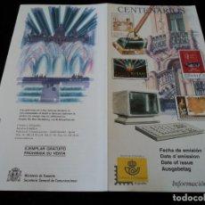 Sellos: INFORMACION FILATELICA DE CORREOS CENTENARIO CARLES BUIGAS 1999. Lote 207212996
