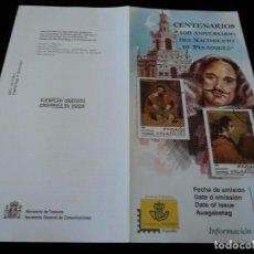 Sellos: INFORMACION FILATELICA DE CORREOS CENTENARIO NACIMIENTO DE VELAZQUEZ 1999. Lote 207213448