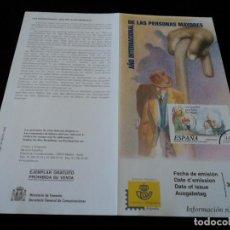 Sellos: INFORMACION FILATELICA DE CORREOS AÑO INTERNACIONAL DE LAS PERSONAS MAYORES 1999. Lote 207214451