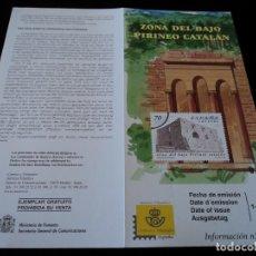 Sellos: INFORMACION FILATELICA DE CORREOS ZONA DEL BAJO PIRINEO OIX 1999. Lote 207214808
