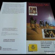 Sellos: INFORMACION FILATELICA DE CORREOS NAVIDAD 1999. Lote 207216043