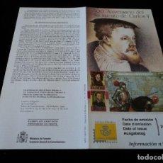 Sellos: INFORMACION FILATELICA DE CORREOS 500 AÑOS NACIMIENTO DE CARLOS V. Lote 207217140
