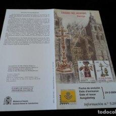 Sellos: INFORMACION FILATELICA DE CORREOS EDADES DEL HOMBRE ASTORGA 2000. Lote 207217680