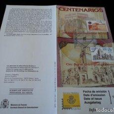 Sellos: INFORMACION FILATELICA DE CORREOS CENTENARIO UNIVERSIDAD DE LLEIDA Y VALENCIA 2000. Lote 207218052