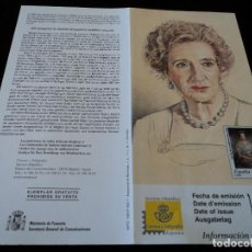 Sellos: INFORMACION FILATELICA DE CORREOS MERCEDES DE BORBON 2000. Lote 207218433