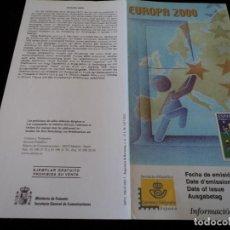 Sellos: INFORMACION FILATELICA DE CORREOS EUROPA 2000. Lote 207218581