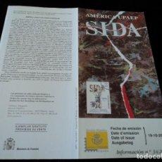 Sellos: INFORMACION FILATELICA DE CORREOS AMERICA UPAEP SIDA 2000. Lote 207339211