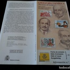 Sellos: INFORMACION FILATELICA CORREOS LA VENGANZA DE D. MENDO, EL ALCALDE DE ZALAMEA ENTRE NARANJOS 2000. Lote 207339537