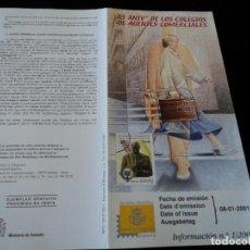 Sellos: INFORMACION FILATELICA DE CORREOS HOMENAJE AL AGENTE COMERCIAL EN ATOCHA 2001. Lote 207339630