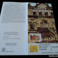 Sellos: INFORMACION FILATELICA DE CORREOS COLEGIO DE INFANTERIA DE TOLEDO 2001. Lote 207339805