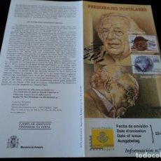 Sellos: INFORMACION FILATELICA DE CORREOS JOAQUIN RODRIGO Y RAFAEL ALBERTI 2001. Lote 207340162