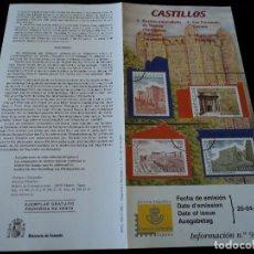 Sellos: INFORMACION FILATELICA DE CORREOS CASTILLOS, 2001. Lote 207340238