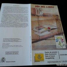 Sellos: INFORMACION FILATELICA DE CORREOS DIA DEL LIBRO , 2001. Lote 207340320