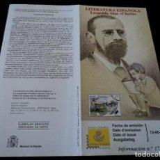 Sellos: INFORMACION FILATELICA DE CORREOS LEOPOLDO ALAS CLARIN 2001. Lote 207340810