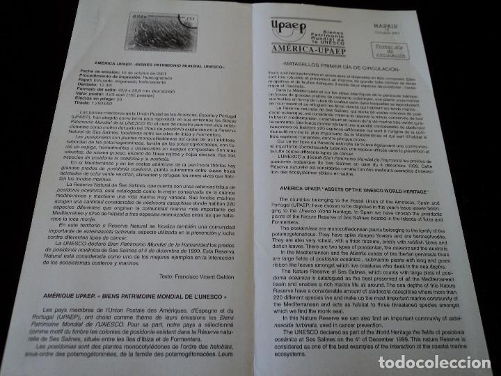 Sellos: INFORMACION FILATELICA DE CORREOS AMERICA UPAEP POSIDONIA 2001 - Foto 2 - 207341883