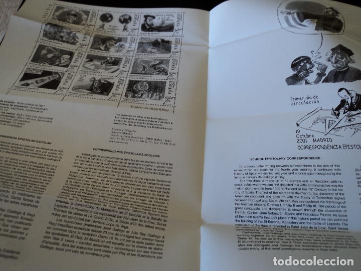 Sellos: INFORMACION FILATELICA DE CORREOS CORRESPONDENCIA EPISTOLAR HISTORIA DE ESPAÑA 2001 - Foto 2 - 207341963