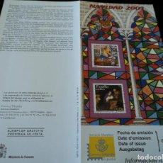 Sellos: INFORMACION FILATELICA DE CORREOS NAVIDAD 2001. Lote 207342075