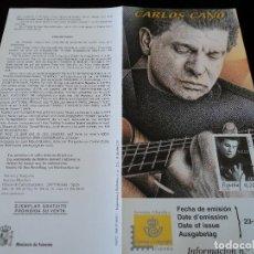 Sellos: INFORMACION FILATELICA DE CORREOS CARLOS CANO 2001. Lote 207342301