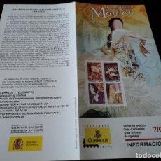 Sellos: INFORMACION FILATELICA DE CORREOS EL MANTON 2004. Lote 207751917