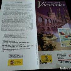 Sellos: INFORMACION FILATELICA DE CORREOS VACACIONES EUROPA 2004. Lote 207752367