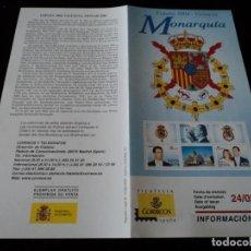 Sellos: INFORMACION FILATELICA DE CORREOS MONARQUIA VALENCIA 2004. Lote 207753195