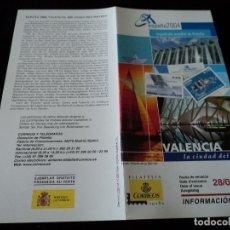 Sellos: INFORMACION FILATELICA DE CORREOS LA CIUDAD DEL MAR VALENCIA 2004. Lote 207753658