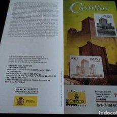 Sellos: INFORMACION FILATELICA DE CORREOS CASTILLO DE AGUAS MANSAS 2004. Lote 207754613