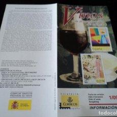 Sellos: INFORMACION FILATELICA DE CORREOS DENOMINACION RIBEIRO Y MALAGA 2004. Lote 207754808