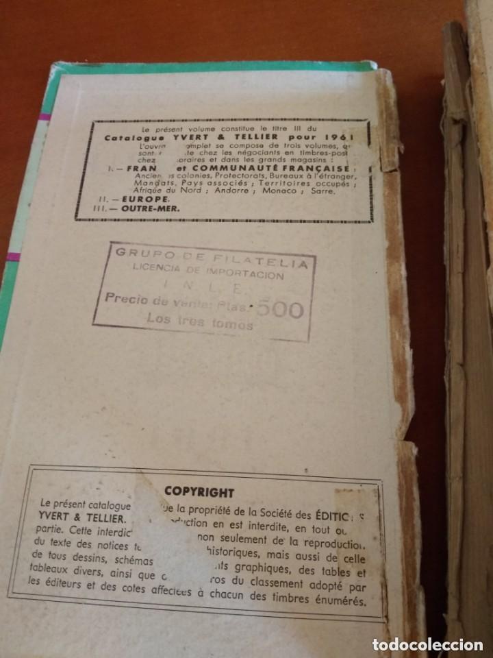 Sellos: CATALOGO DE TIMBRES POSTE - YVERT & TELLIER AÑO 1961 - Foto 11 - 209022860