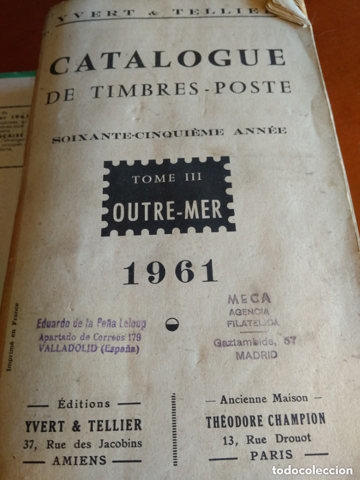 Sellos: CATALOGO DE TIMBRES POSTE - YVERT & TELLIER AÑO 1961 - Foto 12 - 209022860