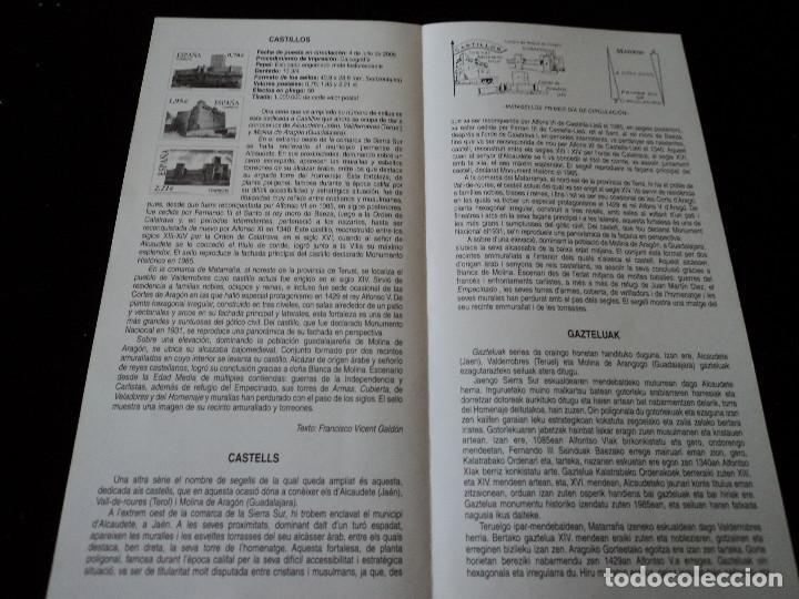 Sellos: INFORMACION FILATELICA DE CORREOS CASTILLOS DE ALCAUDETE, VALDERROBRES Y MOLINA DE ARAGON 2005 - Foto 2 - 209816550