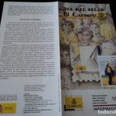Sellos: INFORMACION FILATELICA DE CORREOS DIA DEL SELLO, EL CARTERO 2005. Lote 209816712