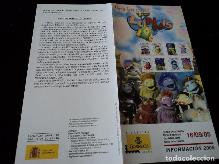 INFORMACION FILATELICA DE CORREOS LOS LUNNIS 2005 (Sellos - Material Filatélico - Otros)