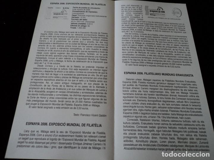 Sellos: INFORMACION FILATELICA DE CORREOS EXPOSICION MUNDIAL DE FILATELIA MALAGA 2005 - Foto 2 - 209816995